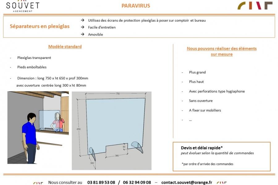 Séparation en plexi- PARAVIRUS