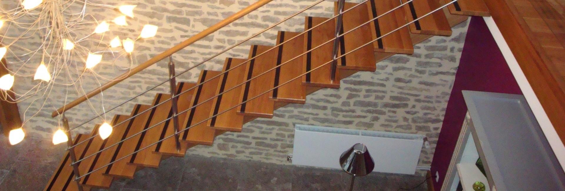 Escalier limon central /